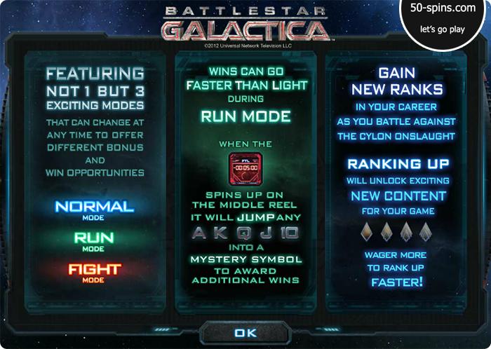 Battlestar Galactica features.