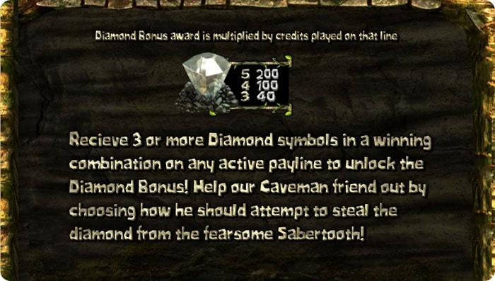 Diamond bonus game.