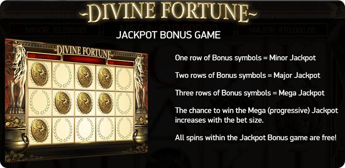 Bonus game Divine Fortune.