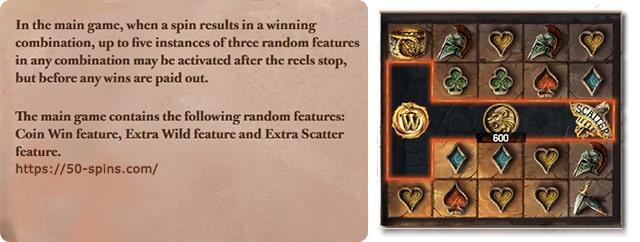 Features in Lost Relisc online slot.