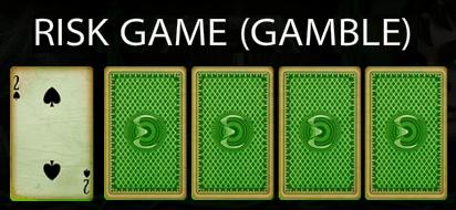 Voodoo slot machine risk game.