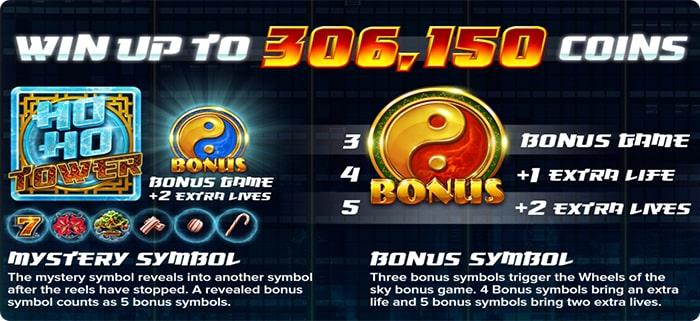 Win in Ho Ho tower slot online.