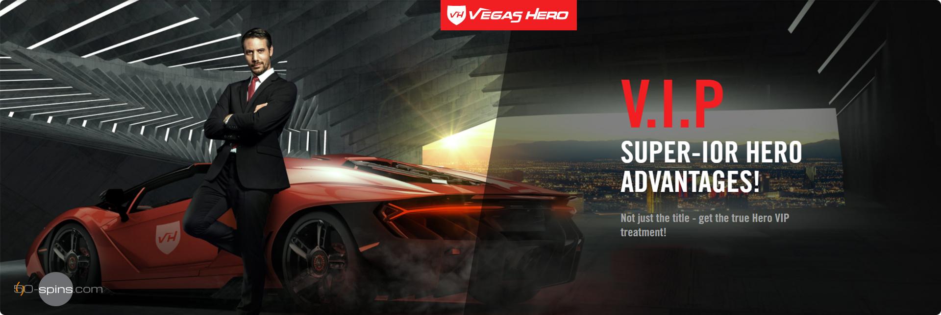 Vegas Hero Casino Vip program.
