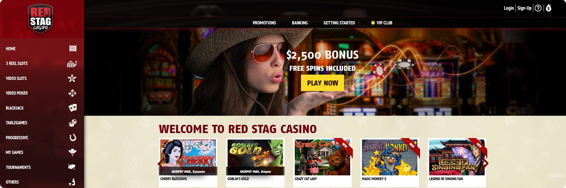 Red Stag Casino Online Review.
