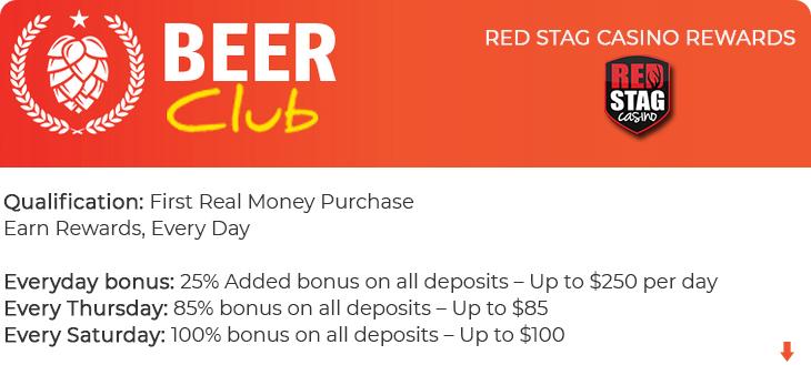 Red Stag Casino bonus.