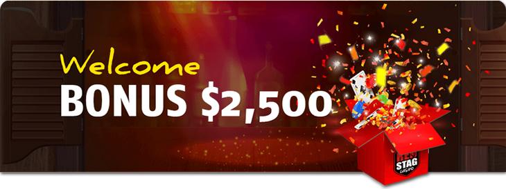 RedStag casino welcome bonus.