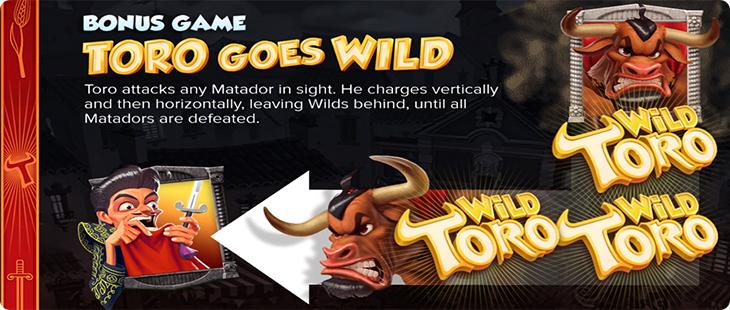 Review bonus game in Wild Toro online slot.