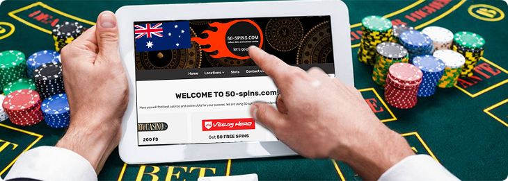 Online casino on the mobile device.