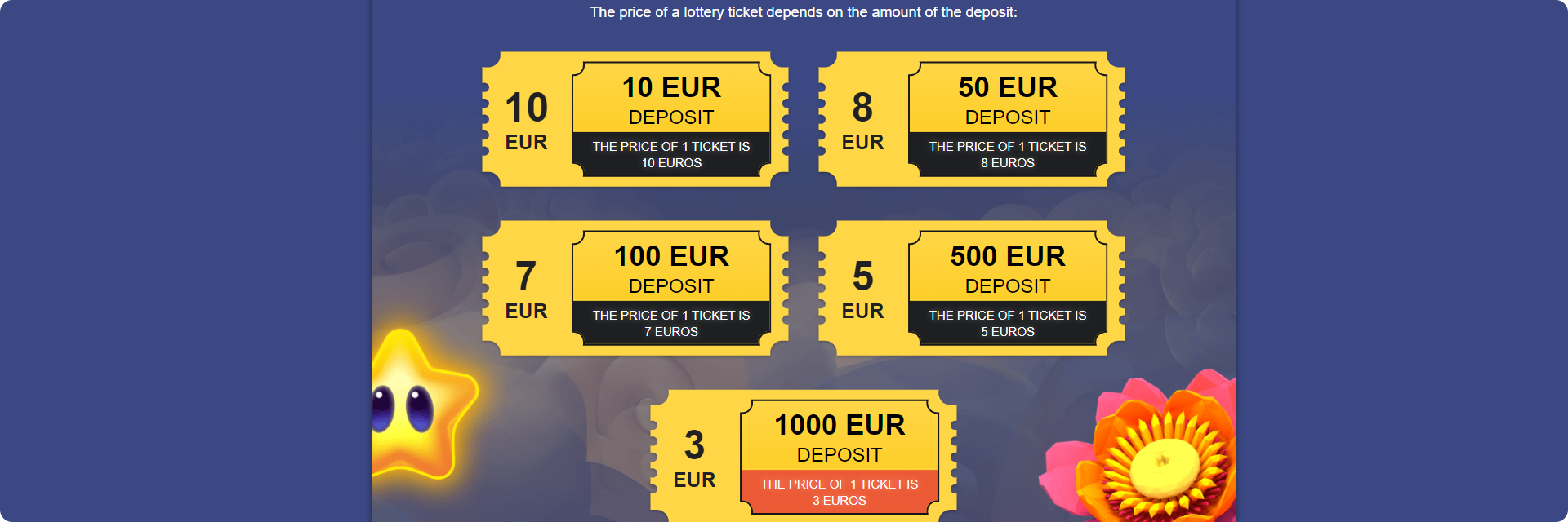 Online casino lottery.
