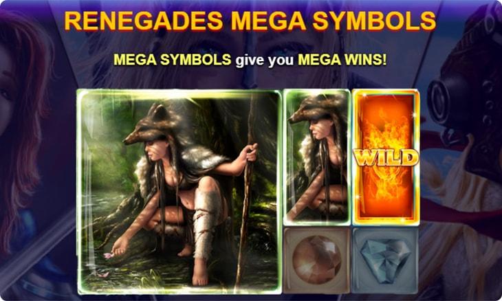 Renegades slot mega symbols.