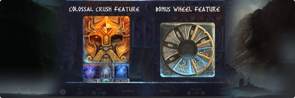 Asgardian Stones free slot features.