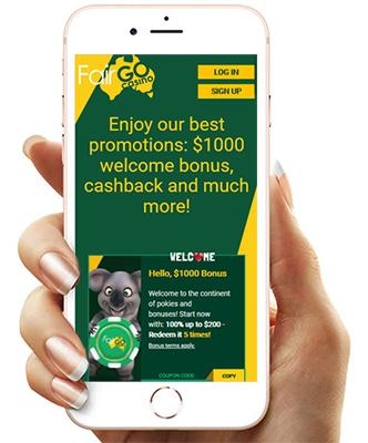 FairGo casino mobile.