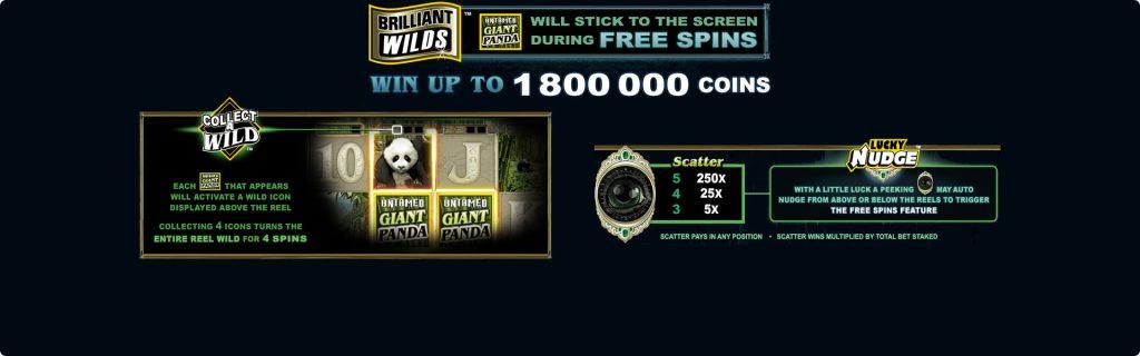 Giant Panda game bonuses.