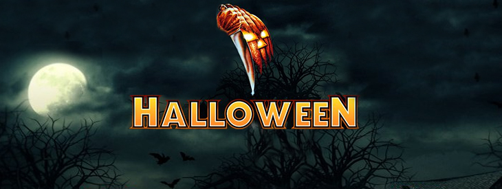 Logo Halloween slot machine.