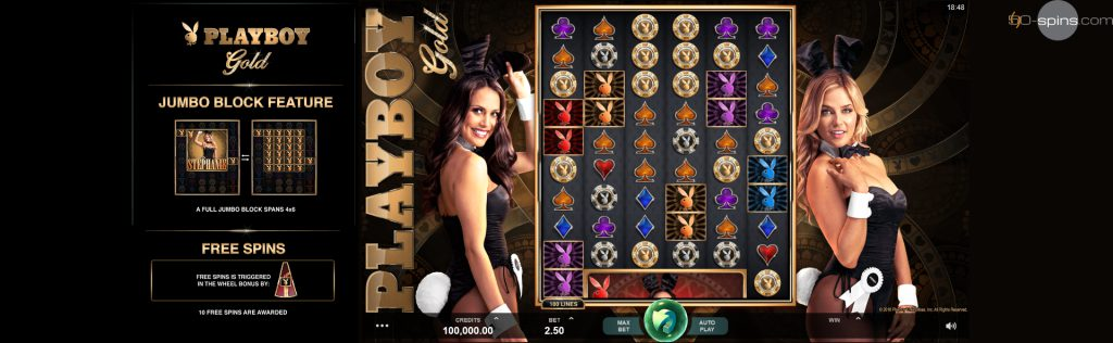 Playboy Gold Slot Free Spins.