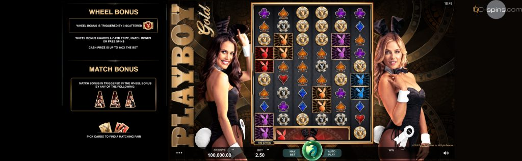 Playboy Gold Slot bonuses.