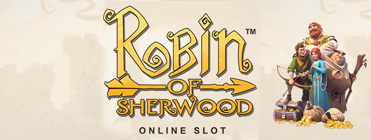 Logo Robin of Sherwood slot machine.