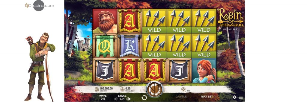 Robin of Sherwood slot machine.