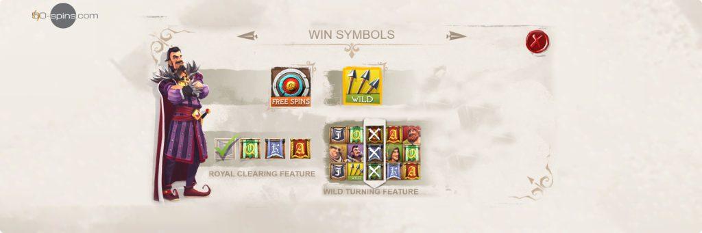 Robin of Sherwood win symbols.