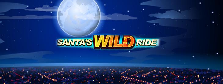 Logo Santa's Wild Ride slot machine.
