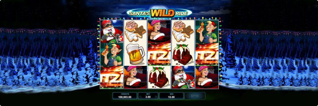 Santa Wild Ride slot machine.