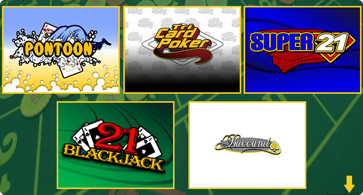 Table casino games examples.