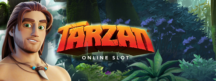 Logo Tarzan slot game.