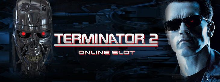 Logo Terminator 2 slot game.