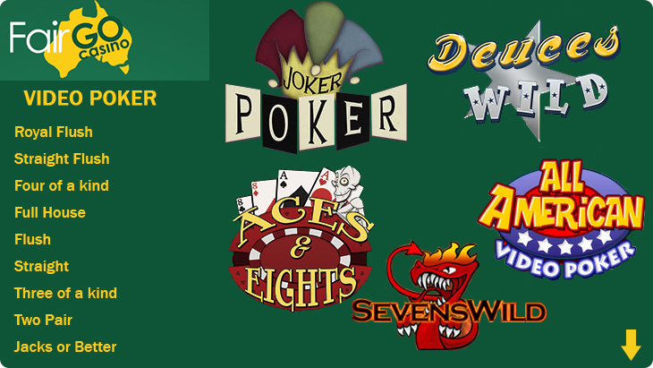 Video poker with combinations.