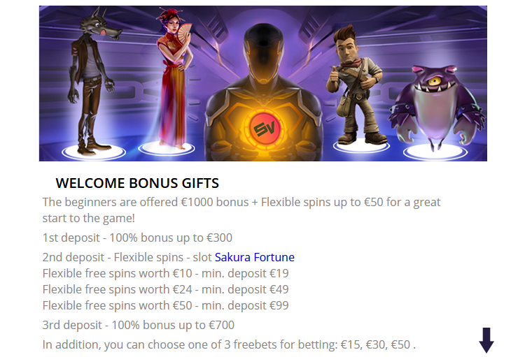 Welcome Bonus Casino.