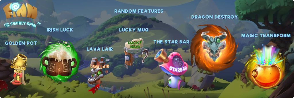 Finn and the swirly spin bonuses.