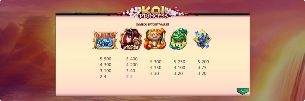 Koi Princess slot machines.