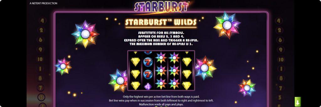 Starburst slot machine.