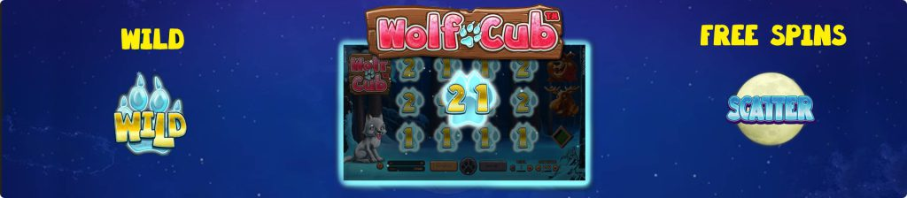 Wolf Cub online slots free spins.