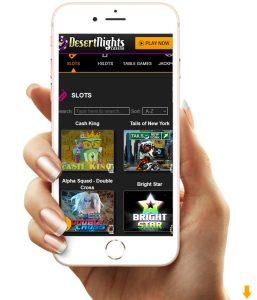 Desert Nights Mobile casino.