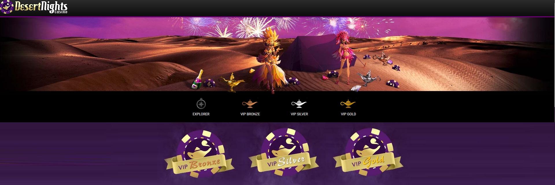 Desert Nights Casino VIP program.
