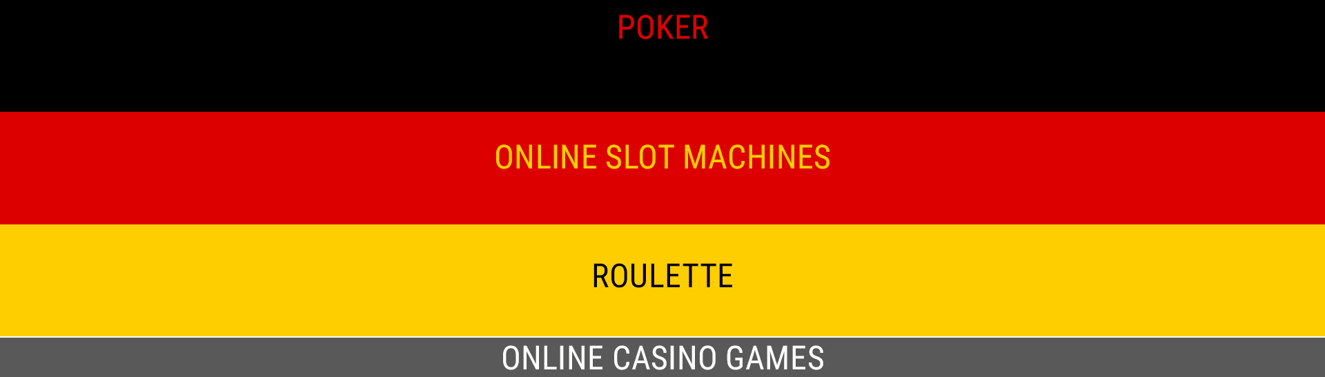 Online casino games in Germany.