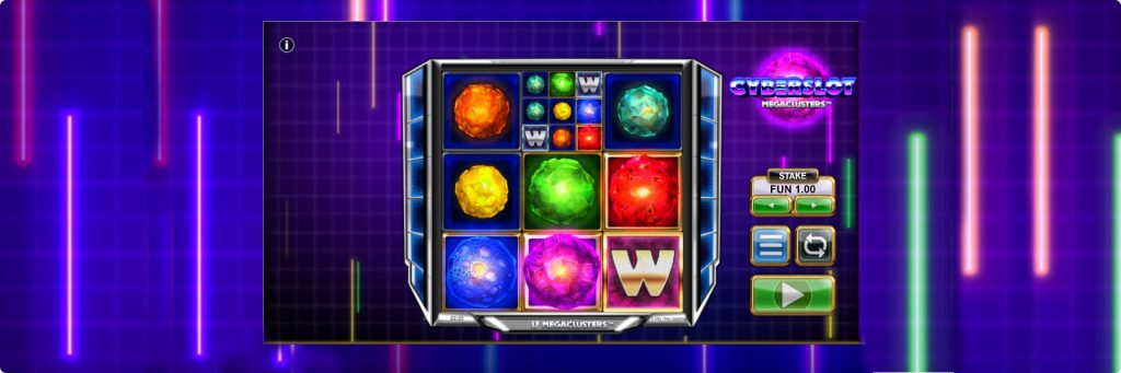 Cyberslot slot machine game.