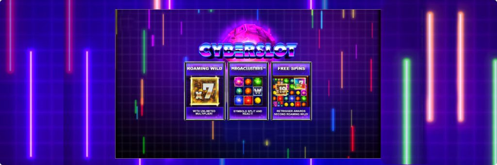 Cyberslot slot machine features.