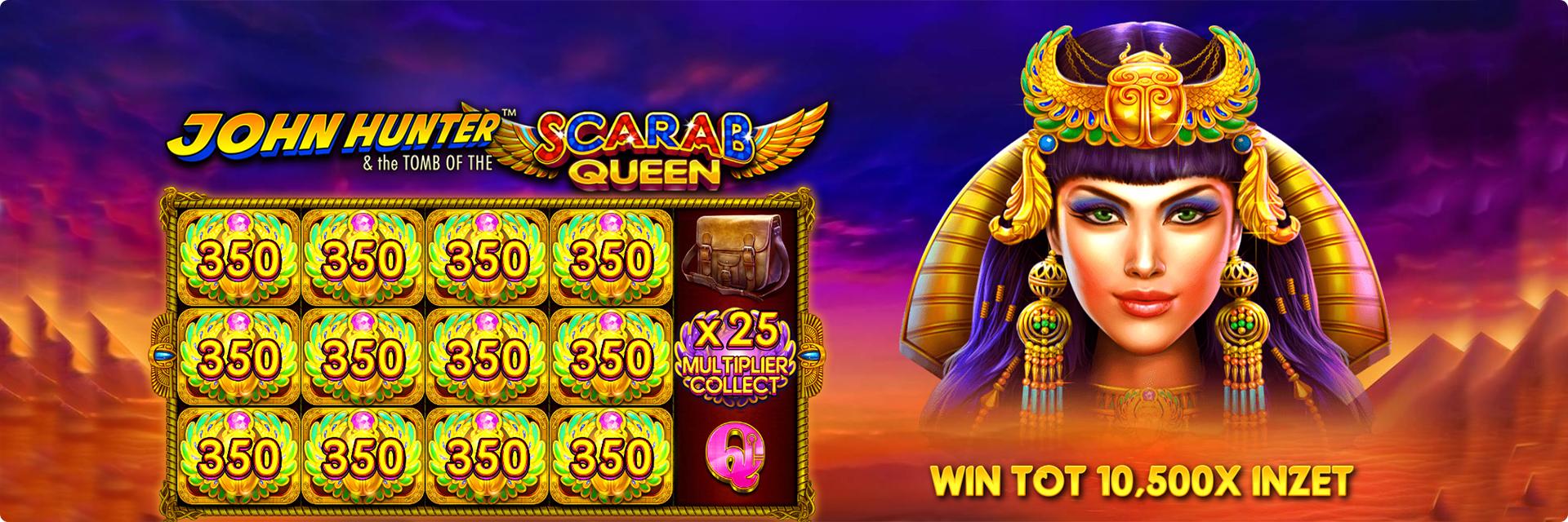 John Hunter Scarab Queen slot machine.