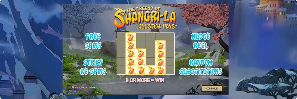Shangri La slot machines.