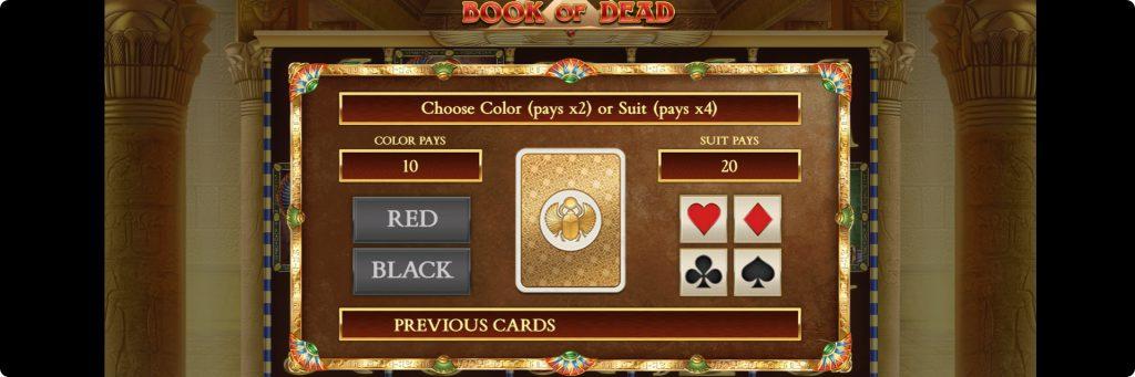 Book of Dead gamble.