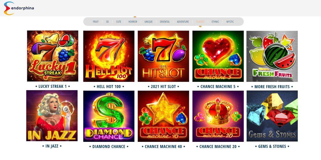 Endorphina classic slot machines.