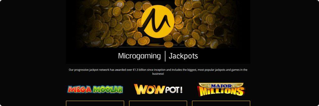 Microgaming slots jackpots.