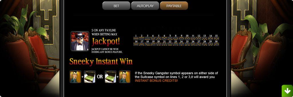 The Slotfather slot machine jackpot.