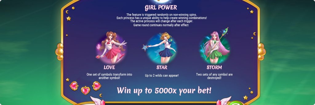 Moon Princess slot machine girls power.