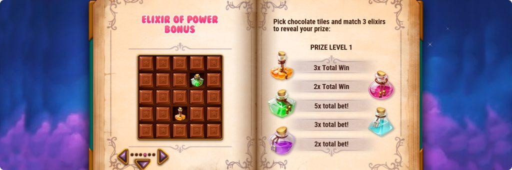 Sweet Alchemy slot bonuses.