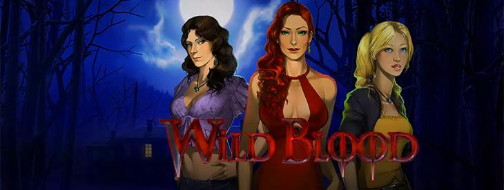 Wild Blood slot machine logo.