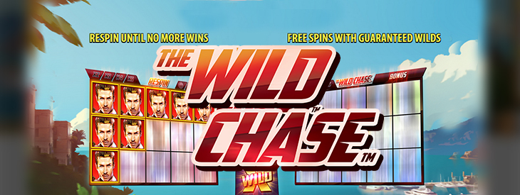 Wild Chase slot logo.