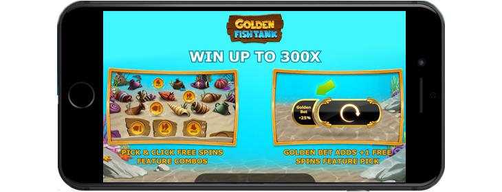 Golden Fish tank mobile game.